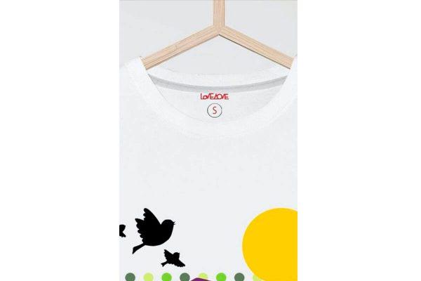 Detalle Camiseta manga corta Olivarero Love AOVE
